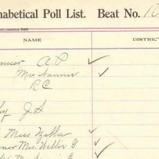 Alabama Poll Tax List