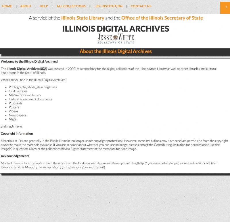 Illinois Digital Archives - OnGenealogy