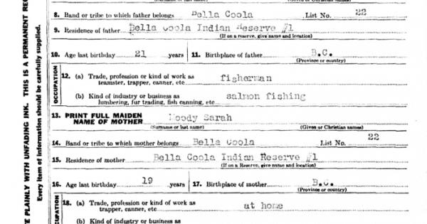 British Columbia Birth Registrations, 1854-1903 - OnGenealogy