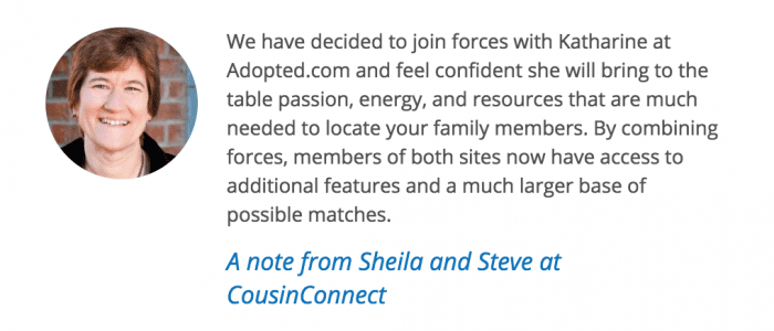 Message from owners of CousinConnect