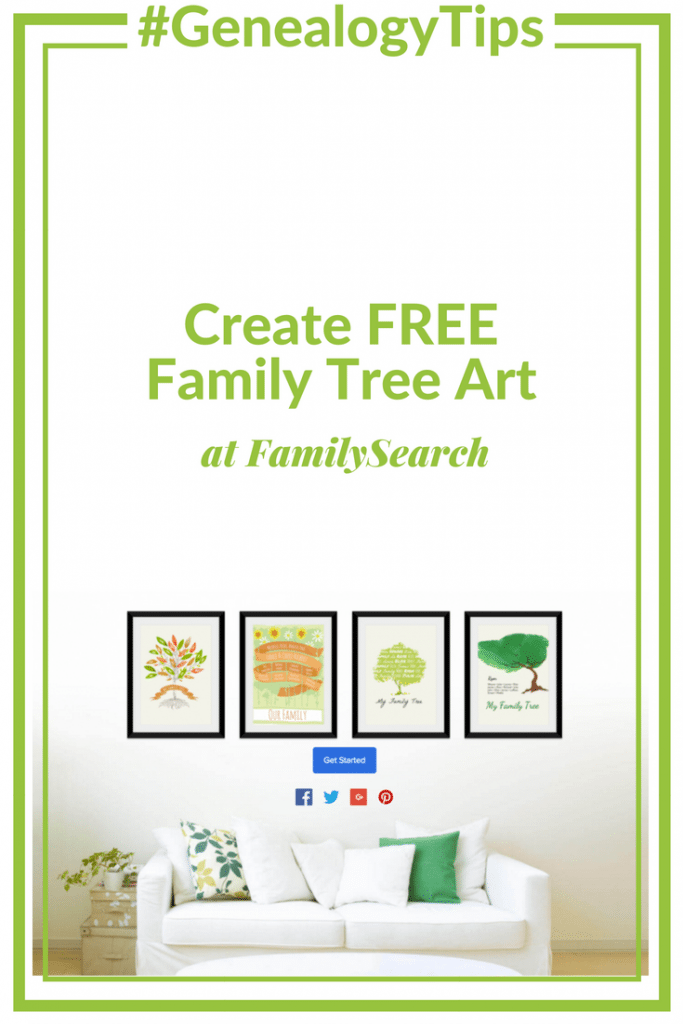 #GenealogyTips Create FREE Family Tree Art at FamilySearch #OnGenealogy