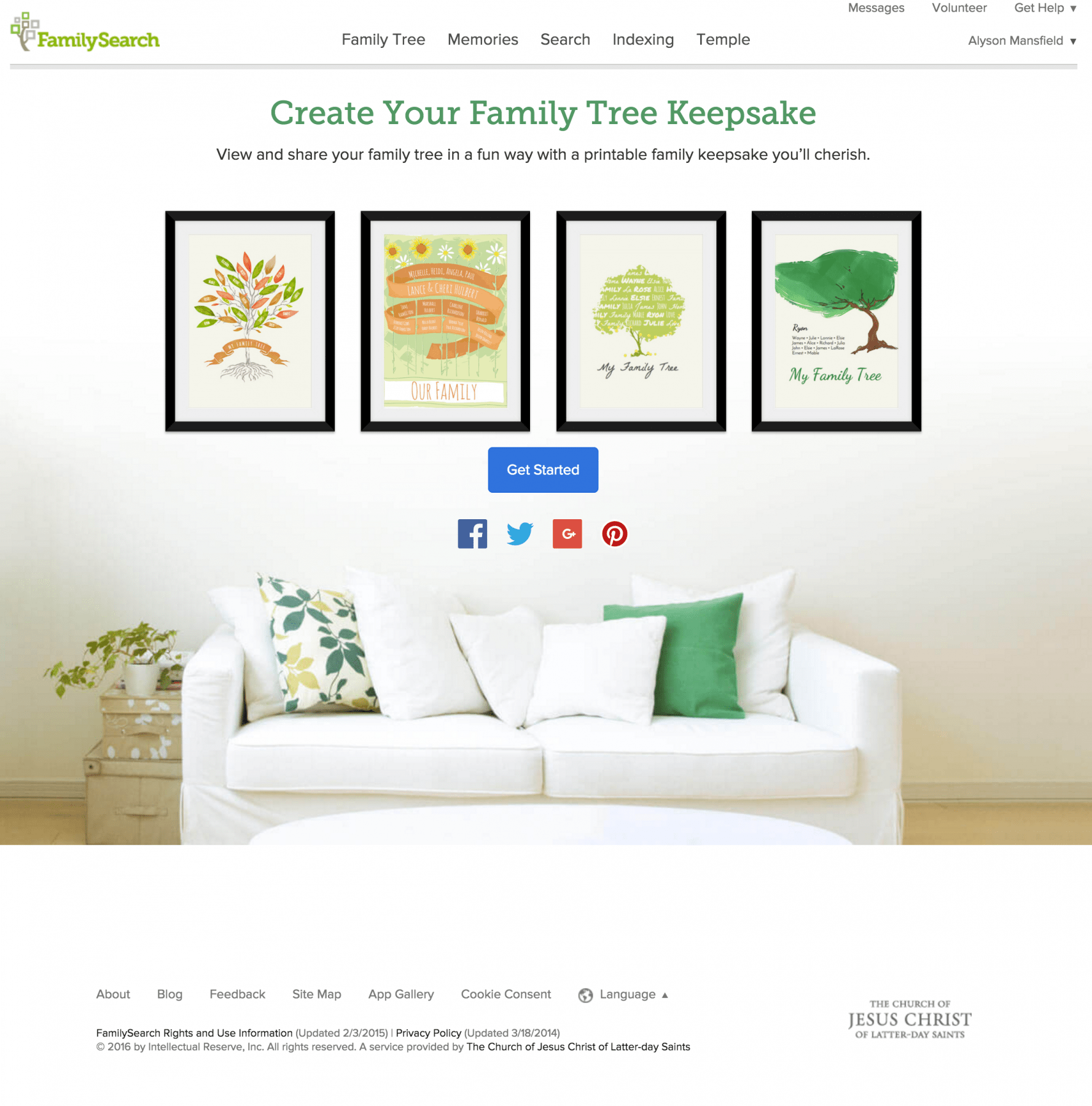 Free family tree art at FamilySearch.org