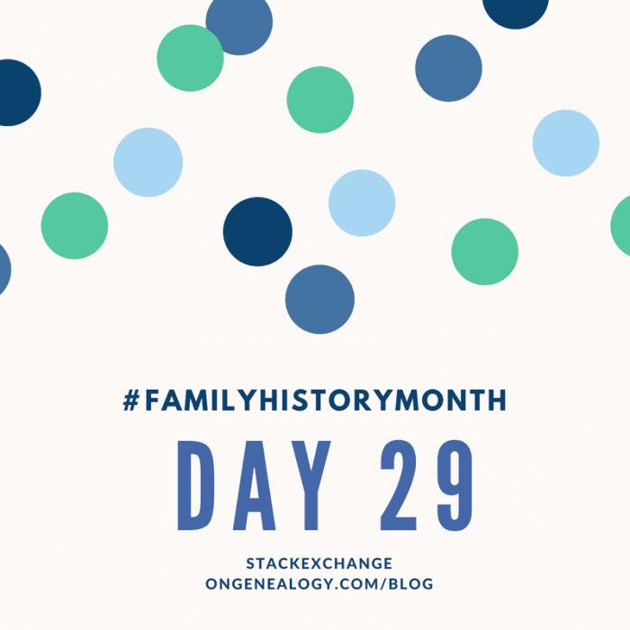 StackExchange OnGenealogy Family History Month