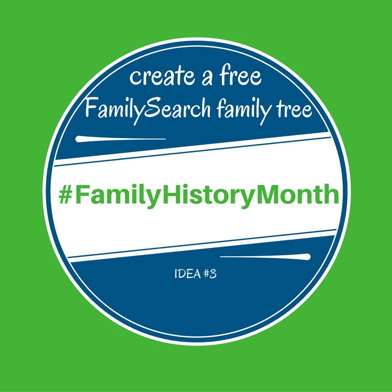 #familyhistorymonth free family tree