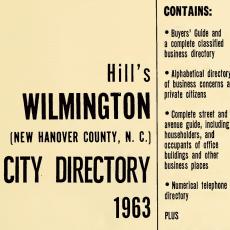 free Wilmington City Directories at DigitalNC