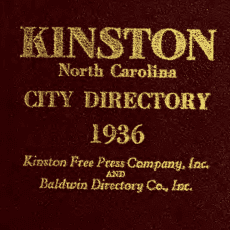 free Kinston City Directories at DigitalNC