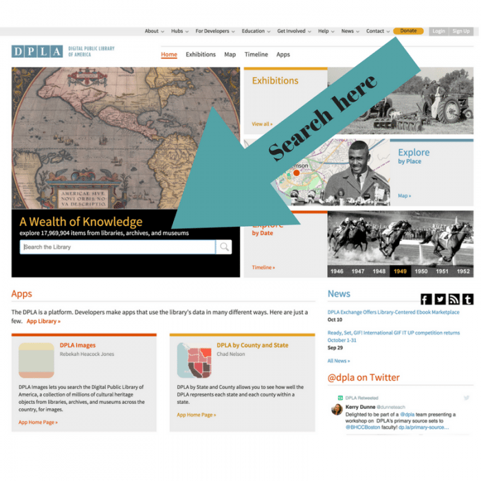 DPLA for genealogy searches