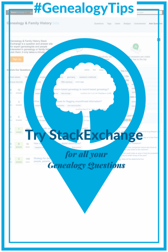 #GenealogyTips Try Stack Exchange for all your Genealogy Questions OnGenealogy
