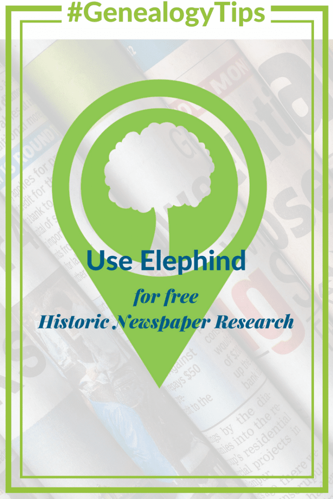 #GenealogyTips Use Elephind for free Historic Newspaper Research OnGenealogy