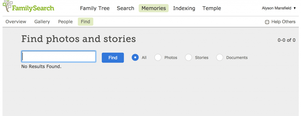 How to find photos stories documents at FamilySearch Memories OnGenealogy blog