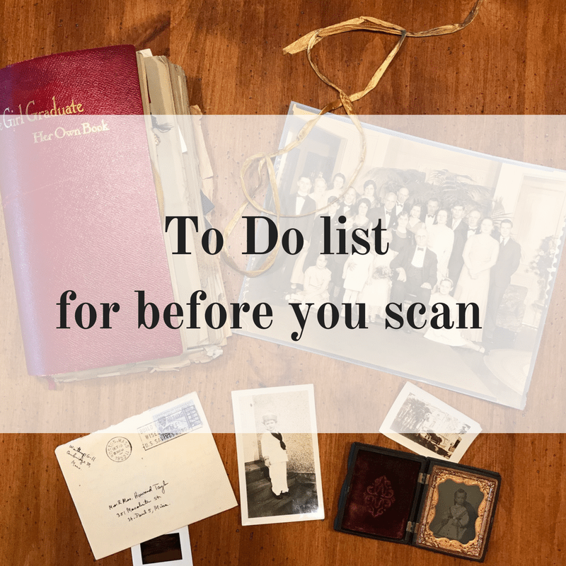 To Do List for before you scan