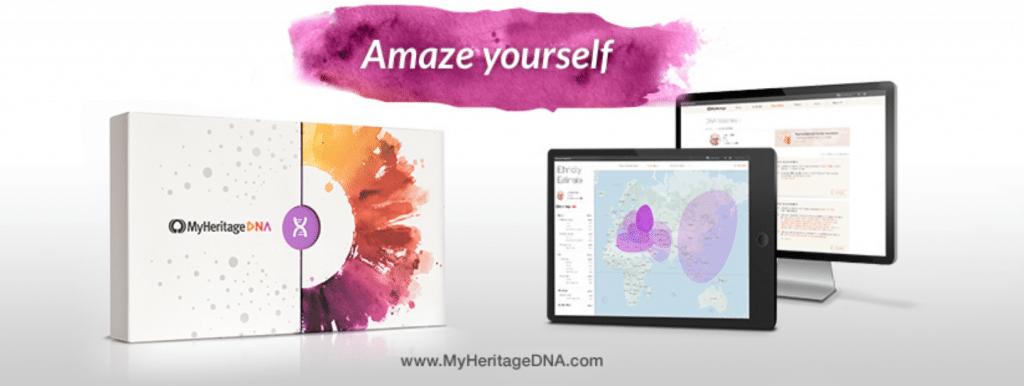 MyHeritageDNA logo for OnGenealogy listing
