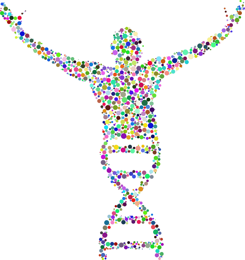 DNA image from GDJ at Pixabay
