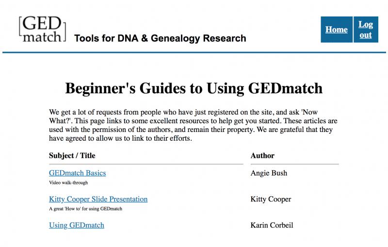 GEDmatch - OnGenealogy