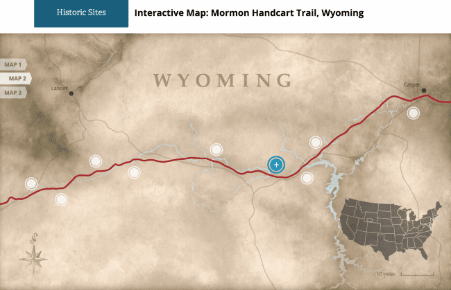 Wyoming Handcart Map