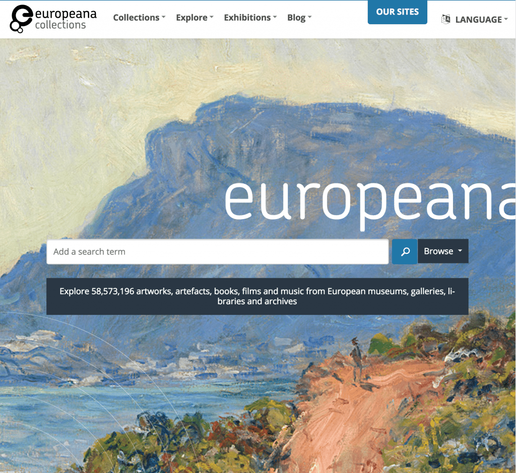 Europeana book collections online free
