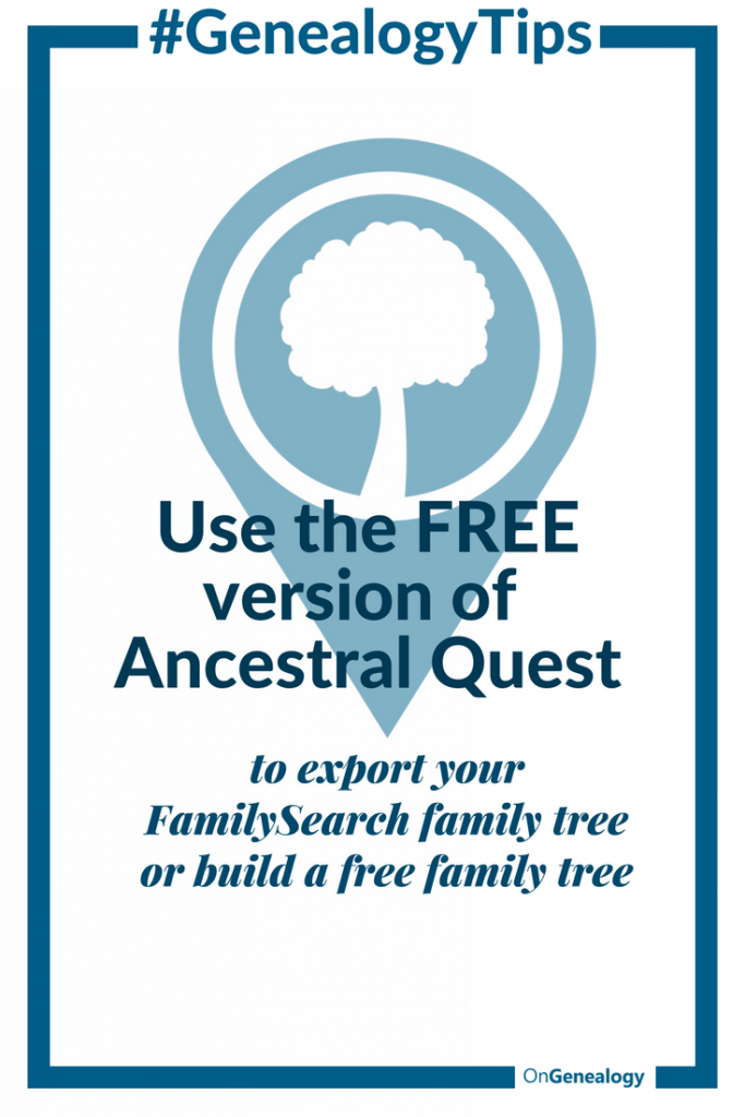 how to import your free familysearch family tree at ancestral quest