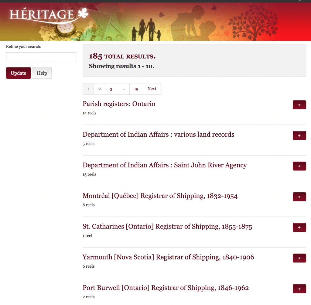 Heritage for Genealogy Research