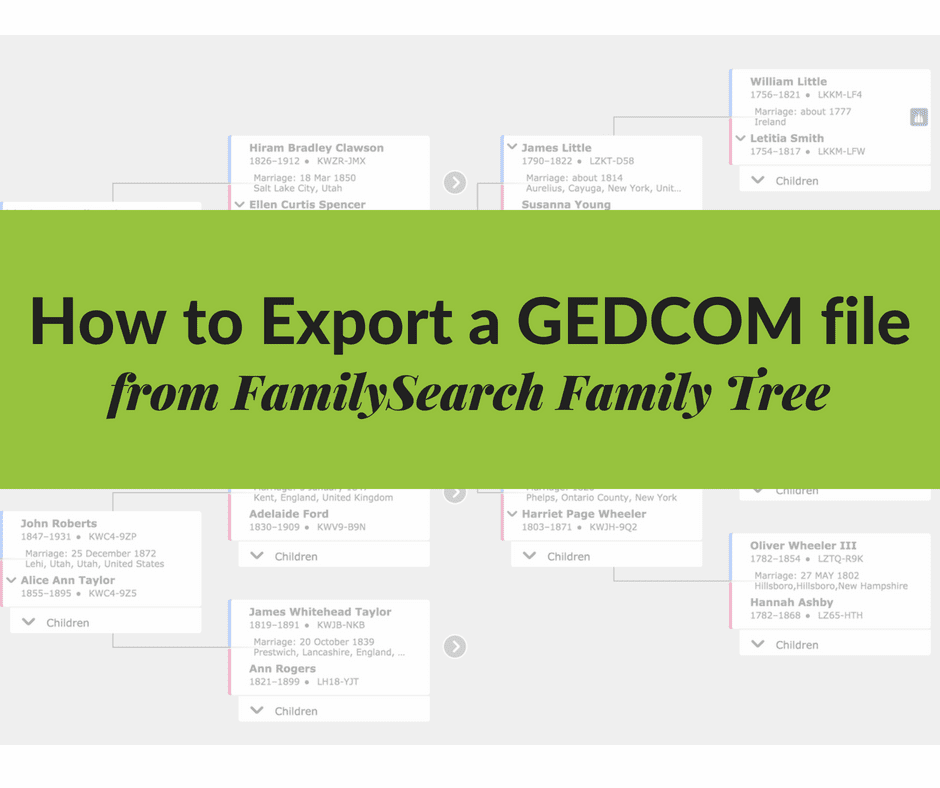How to Export a GEDCOM file from FamilySearch Family Tree