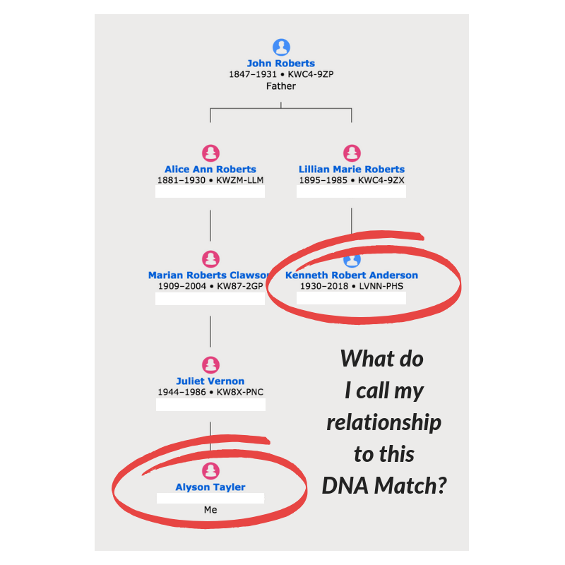 What do I call my relationship to this DNA Match? #OnGenealogy