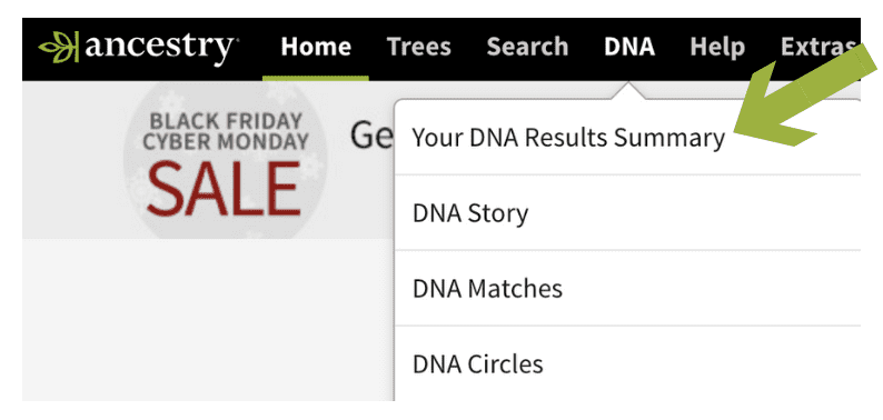 AncestryDNA Your DNA Results Summary page