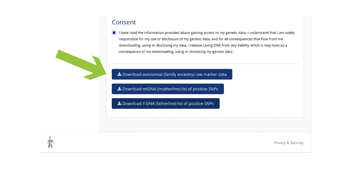 Step 5 - LivingDNA Choose which test to download #OnGenealogy How to Download DNA Raw Data from LivingDNA