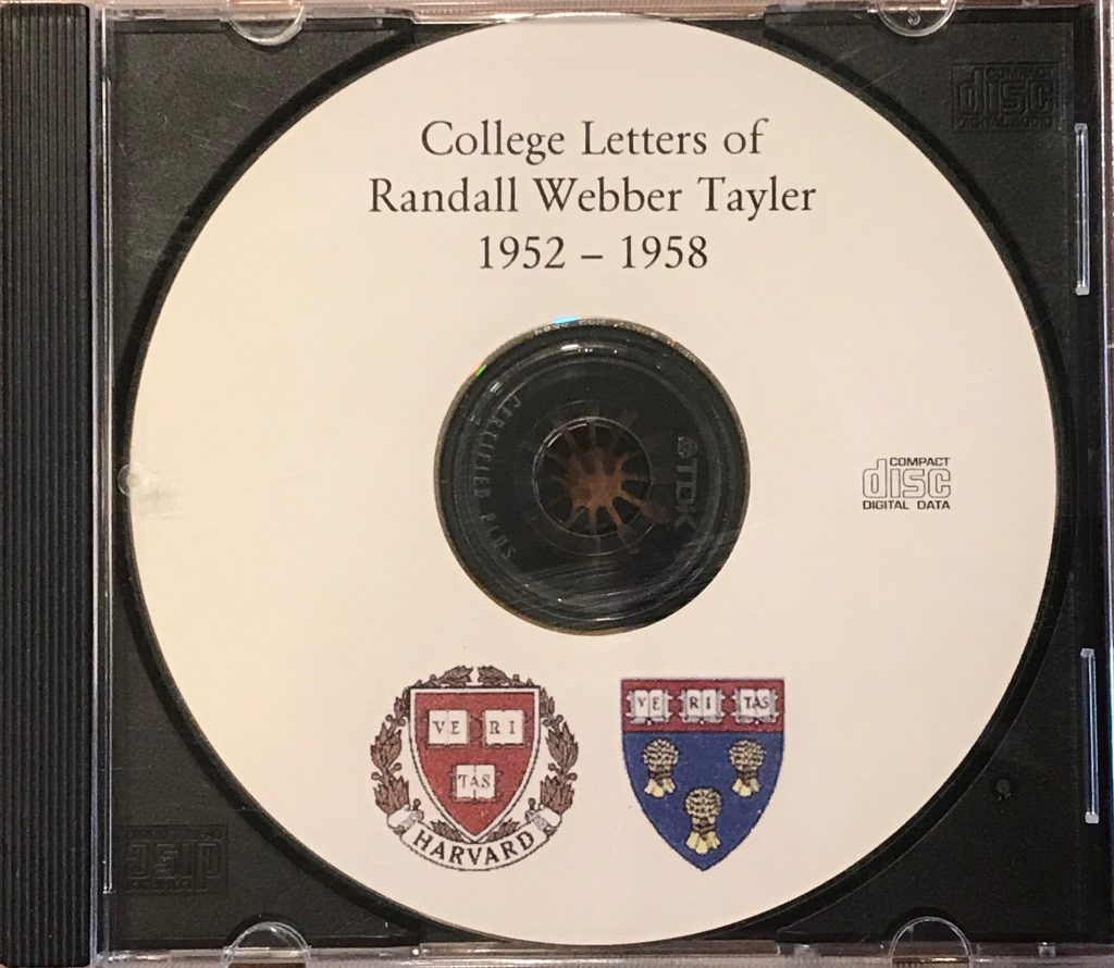 CD of Randall Webber Tayler college letters