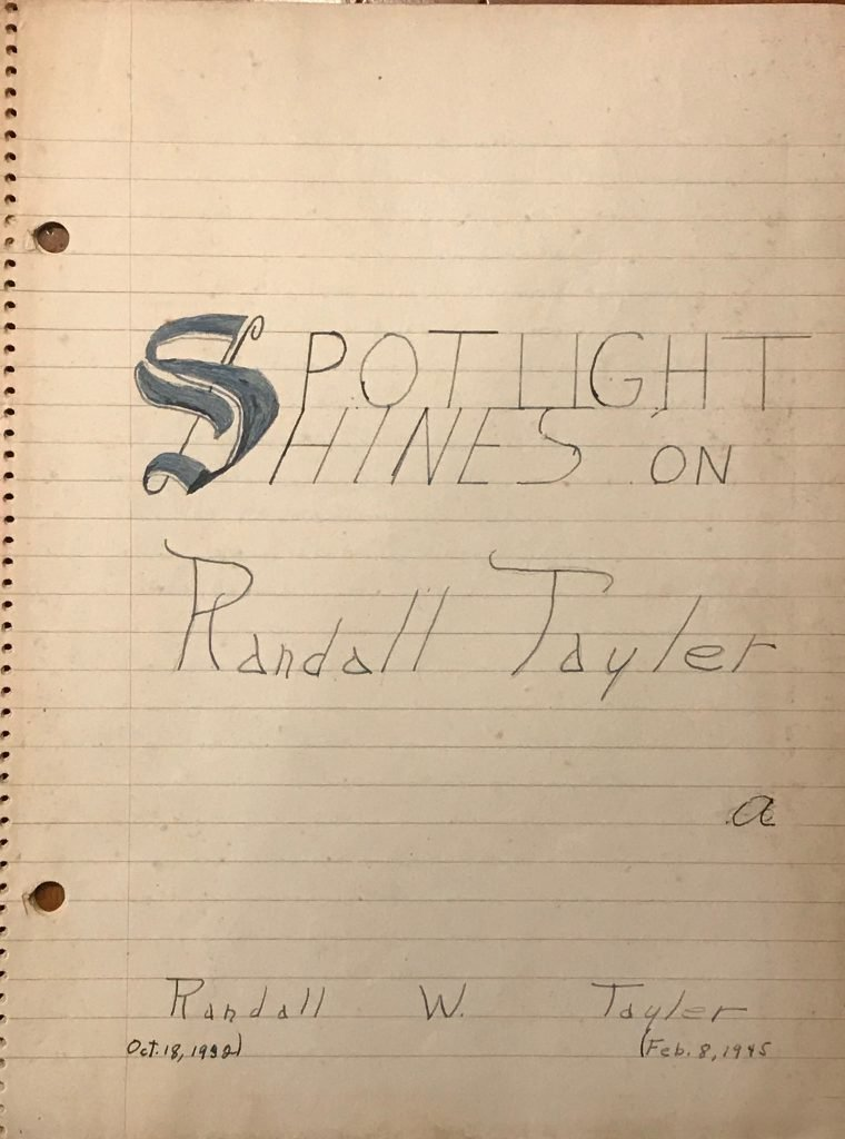 Spotlight Shines of Randall Tayler a life story at 13