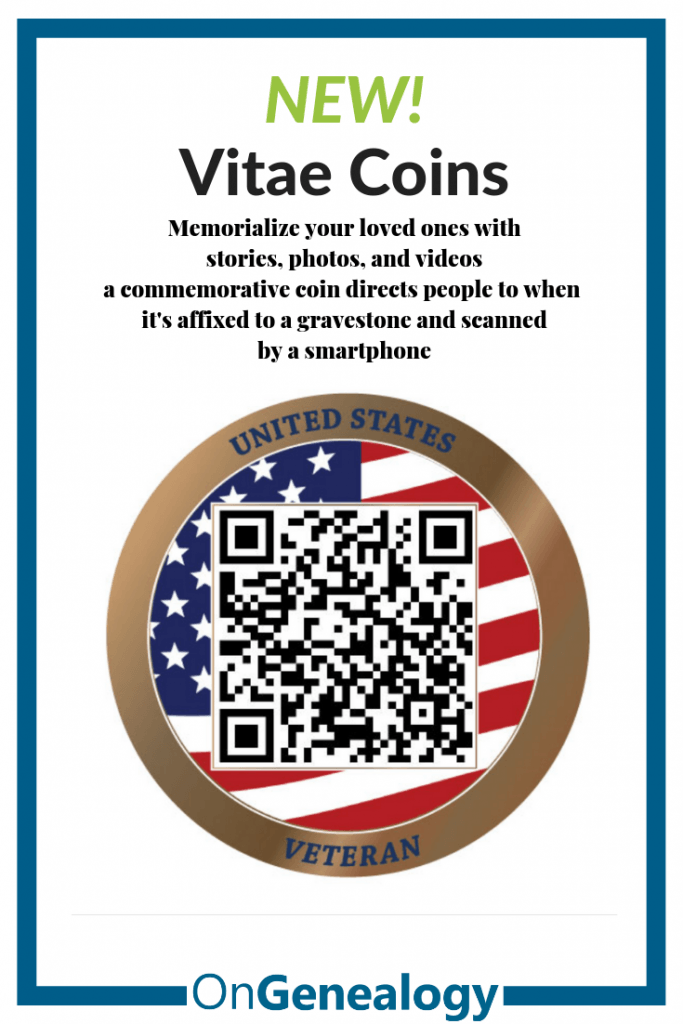 Vitae Coins listed at #OnGenealogy