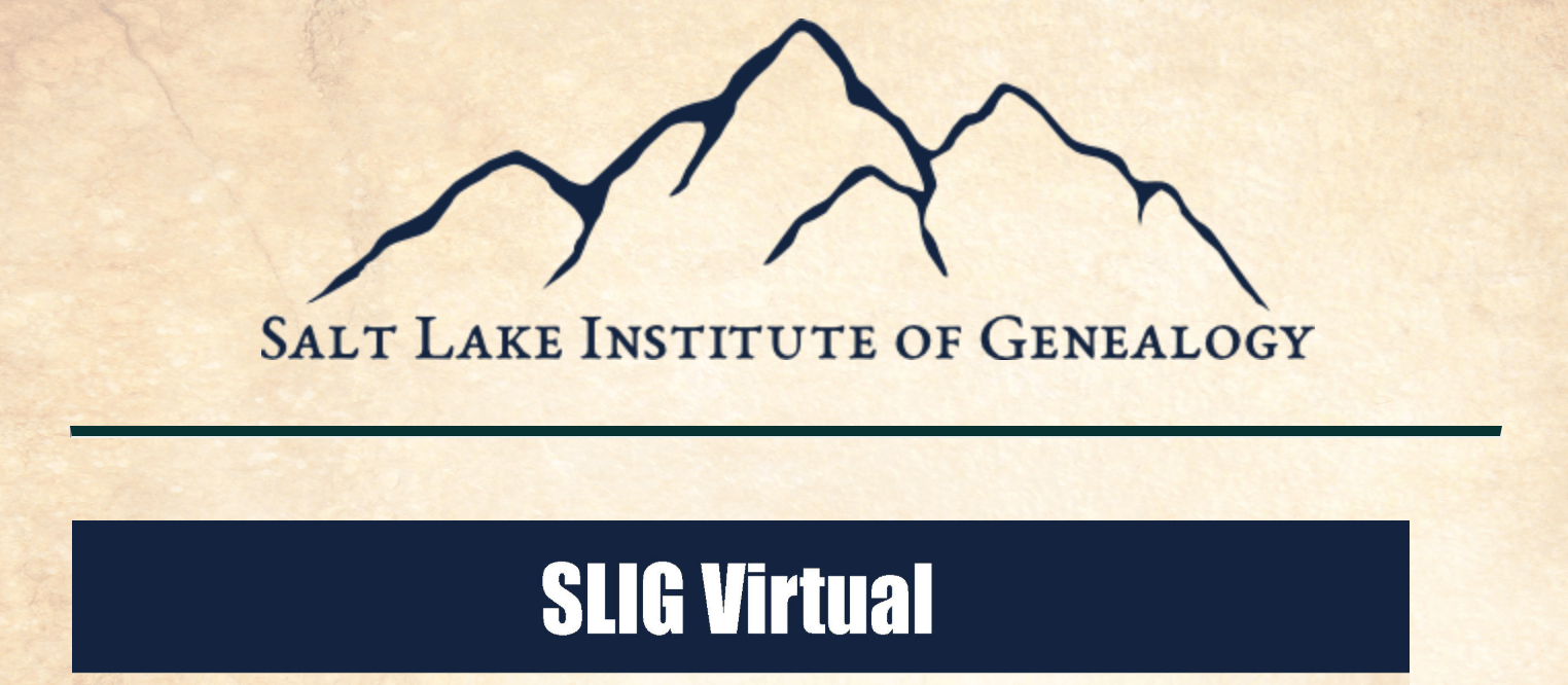SLIG Virtual listed at #OnGenealogy