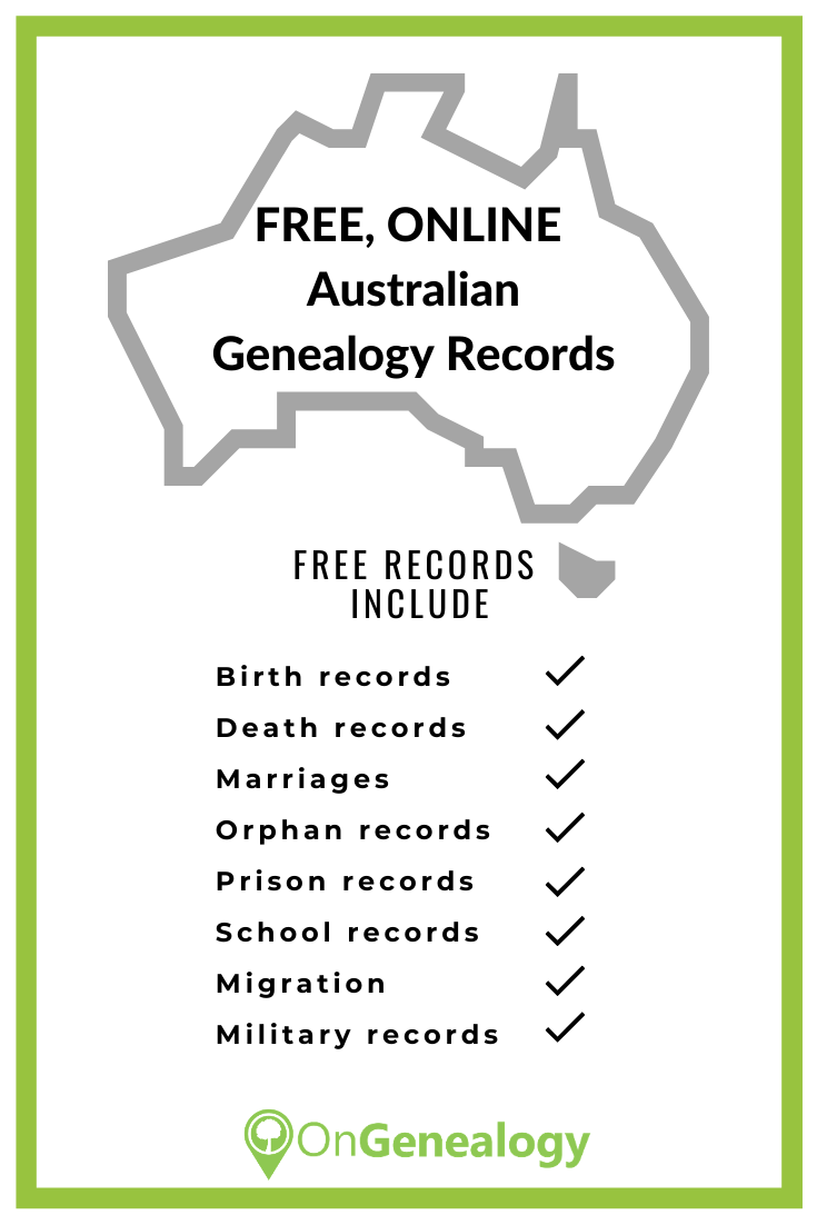 free Australian Genealogy records online with census substitutes