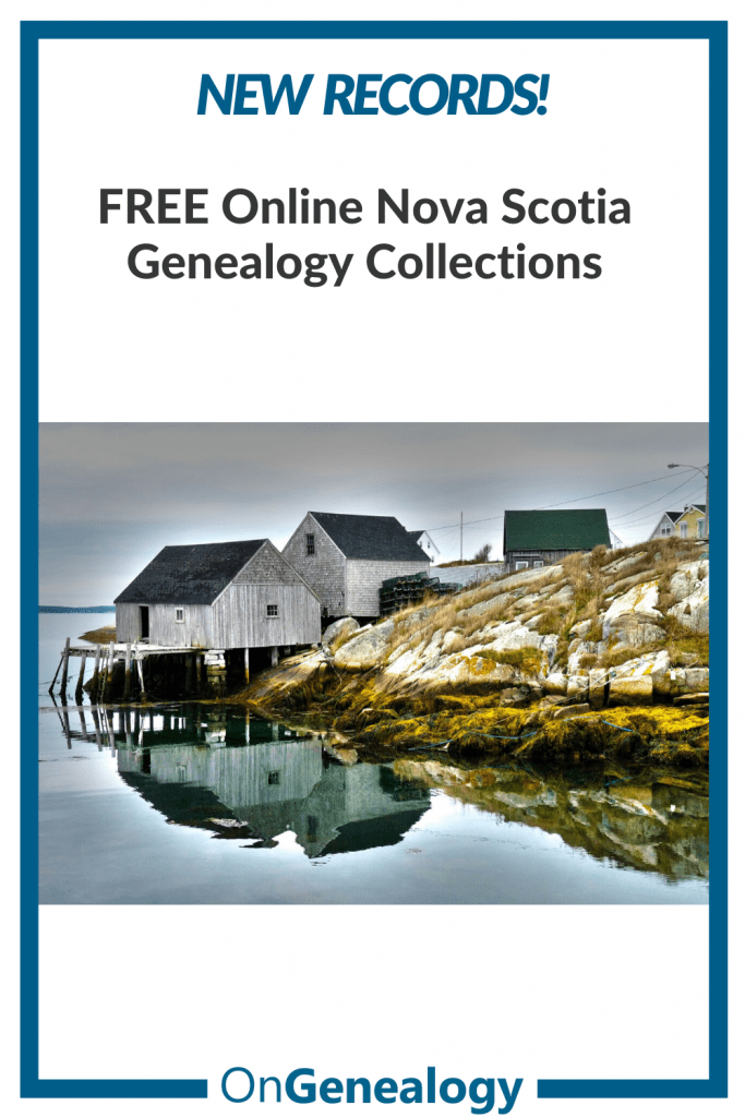 Nova Scotia free online genealogy records listed at OnGenealogy image by Wayne Linton Pixabay CC)