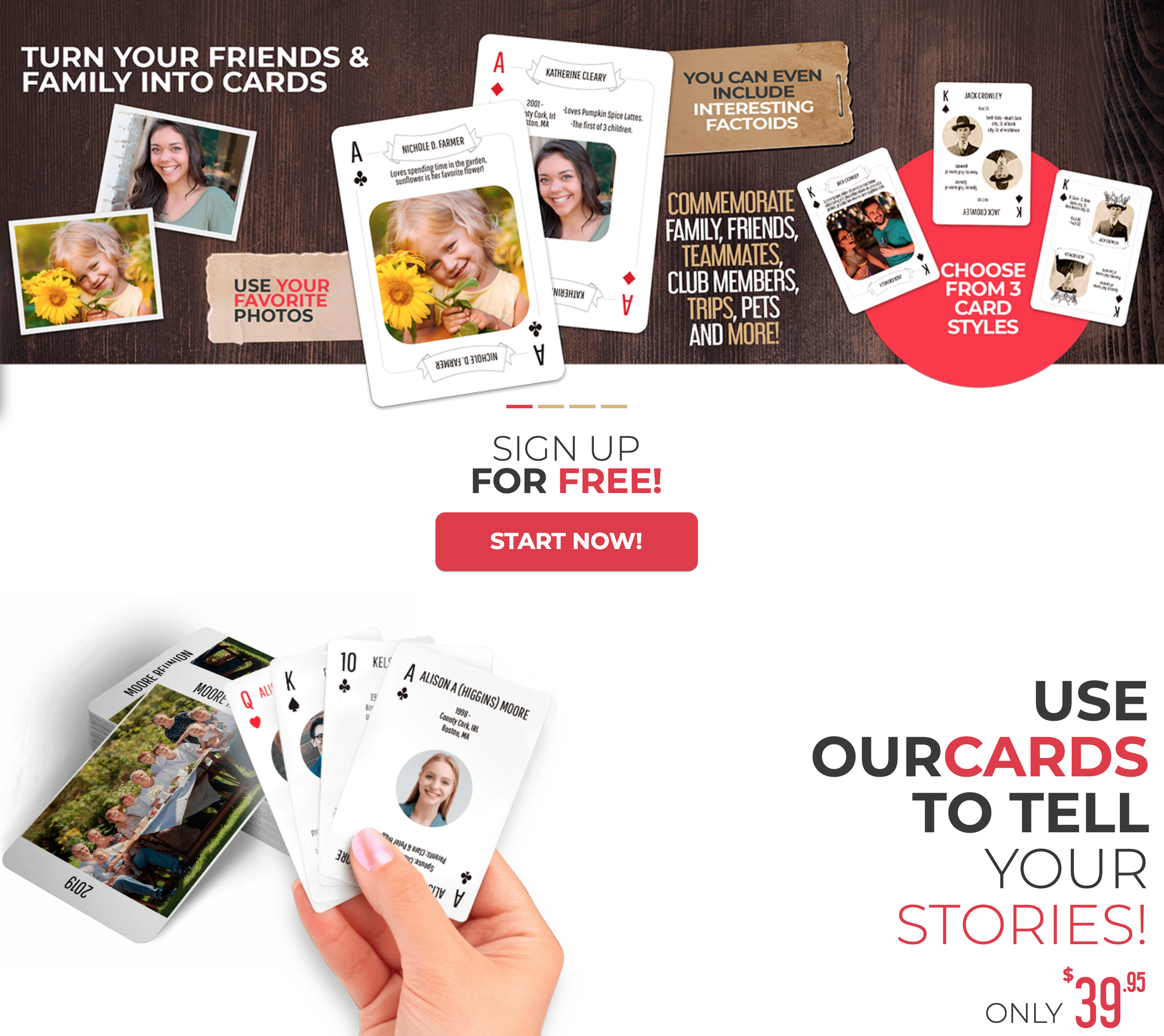 OurCards personalized playing cards #OnGenealogy