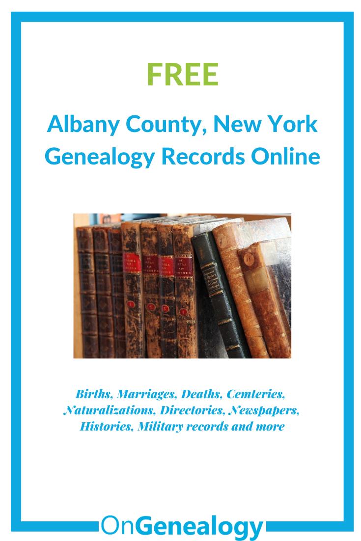 Albany New York genealogy records online free